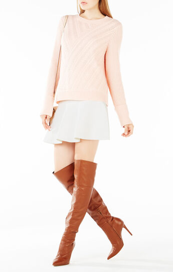 Caleigh Crisscross Cable-Knit Sweater