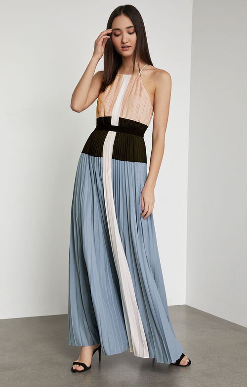 Constantine Color-Blocked Gown