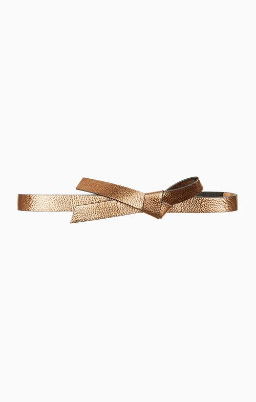 Metallic Knotted Waist Belt