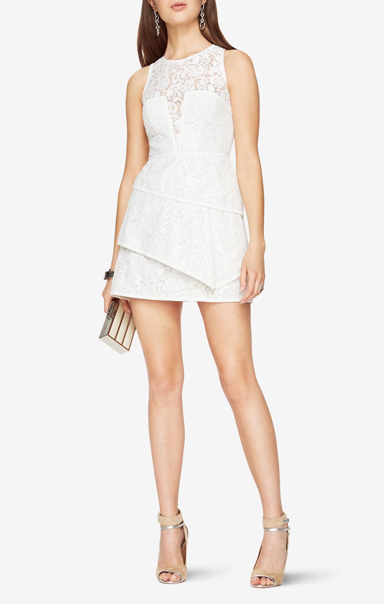 White dress cocktail - Daegan Lace Dress