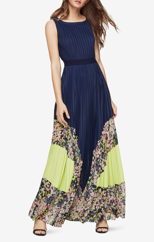 Charlotte Print-Blocked Gown