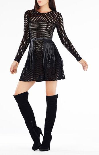 Kyla A-Line Long-Sleeve Dress