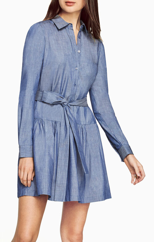Mariela Chambray Twill Dress