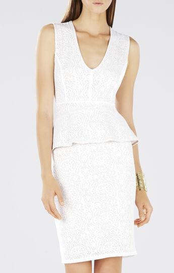 Juliene Deep V Peplum Dress