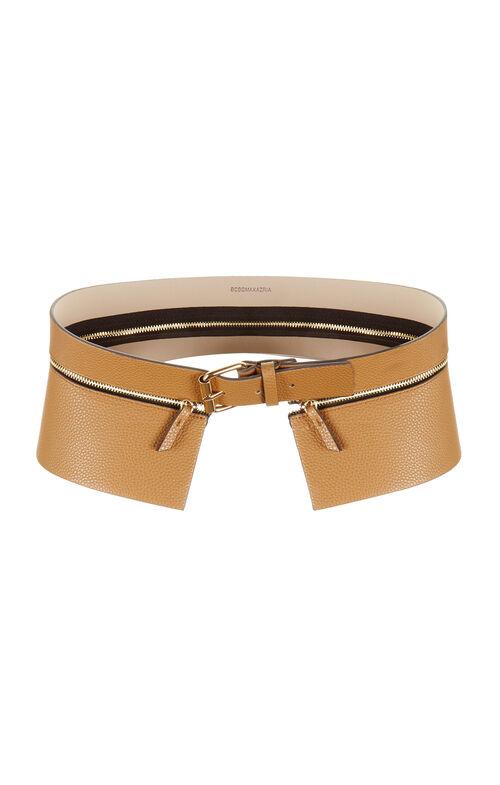 Peplum Zip Waist Belt