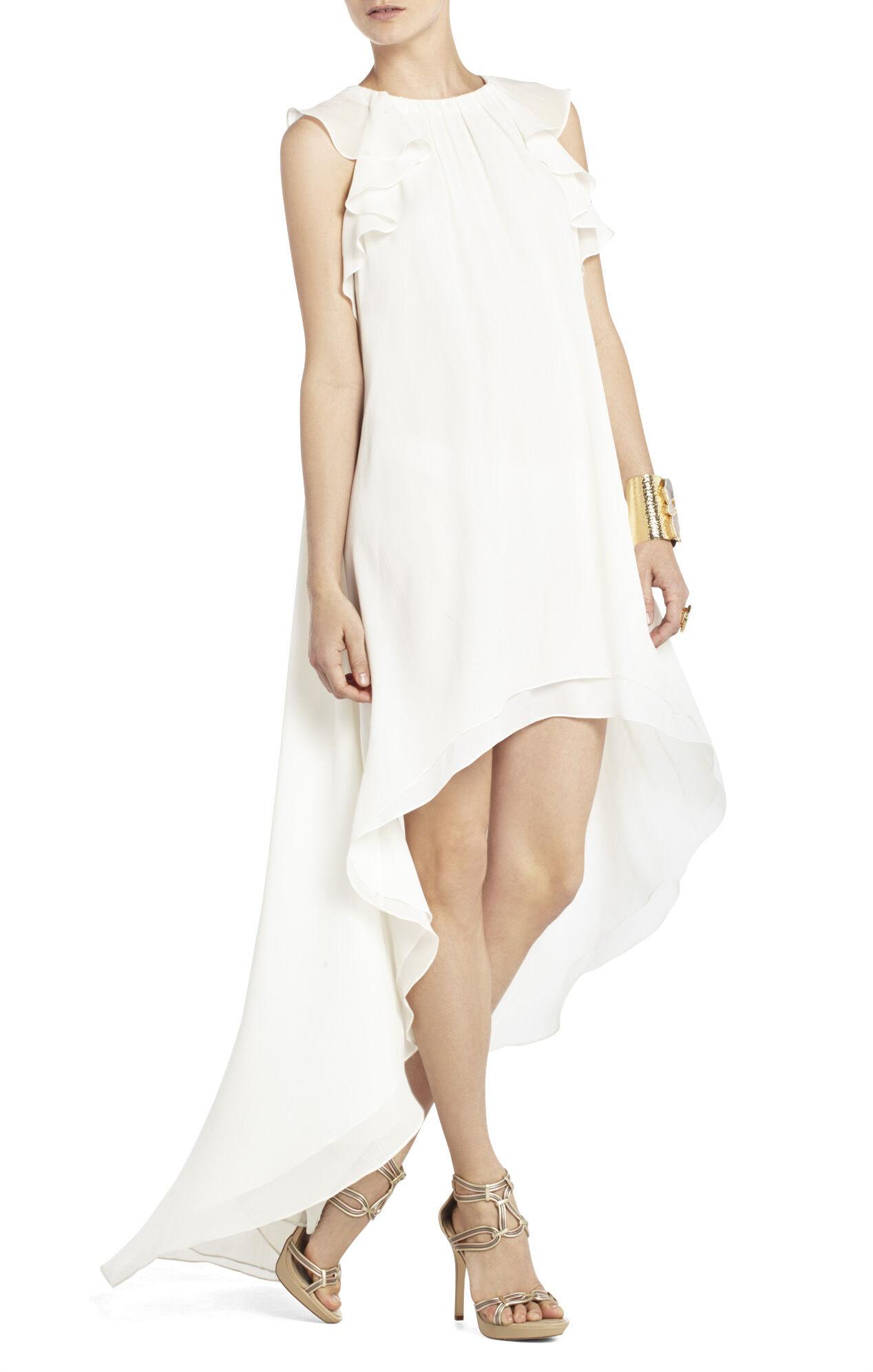White Ivory Halter Dress BCBG