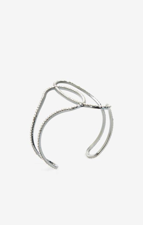Pave Looped Cuff Bracelet