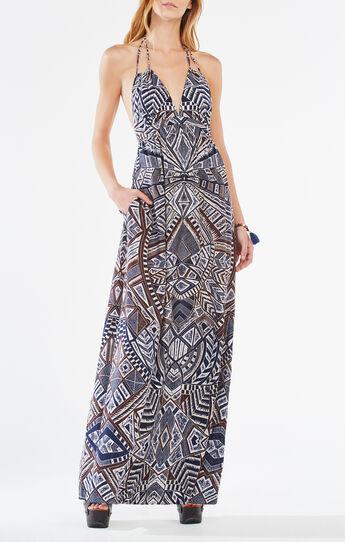 Kamala Medallion Print Maxi Dress