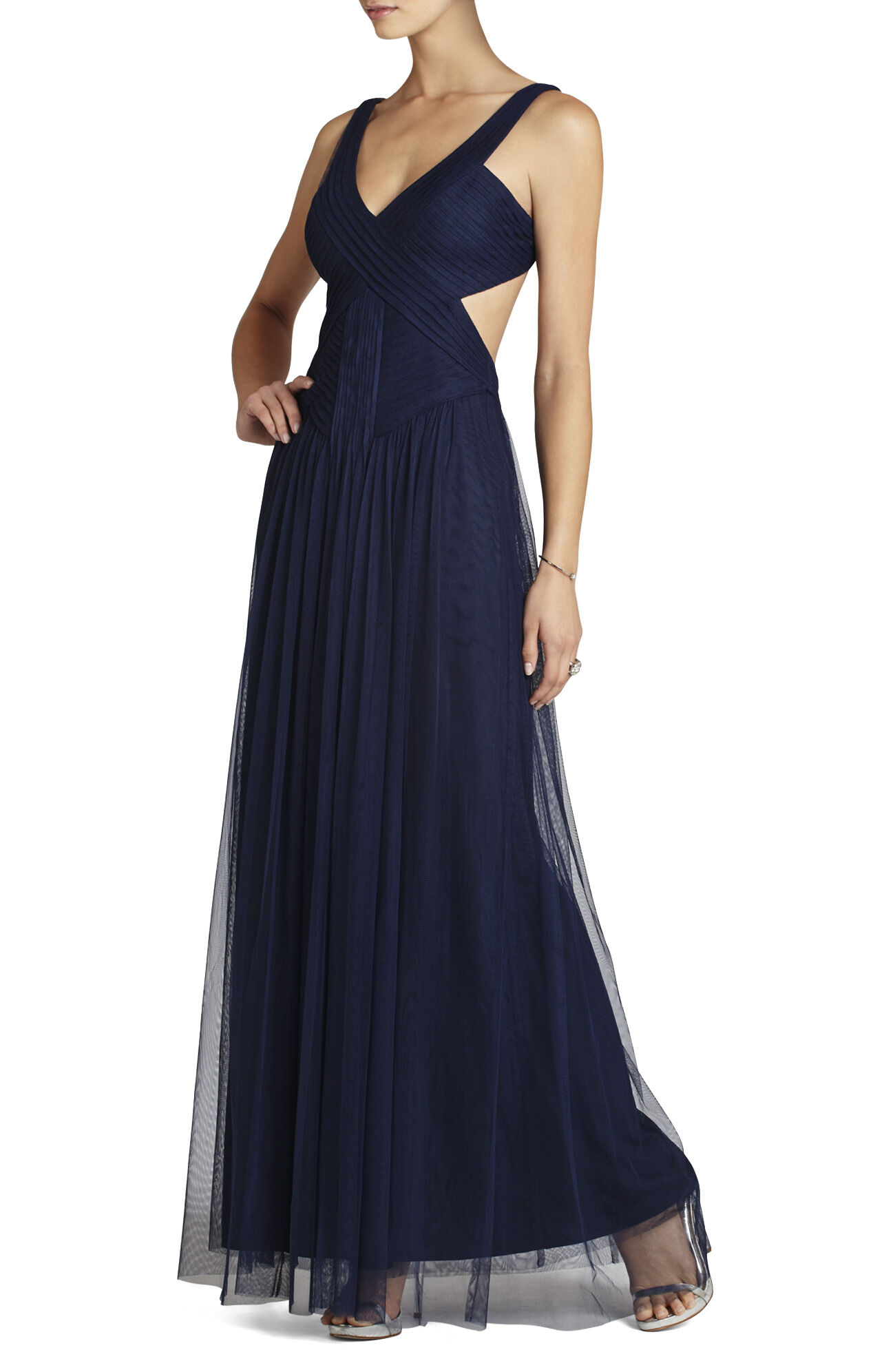 Mara V-Neck Cut-Away Back Gown