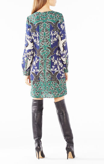 Freya Fluttering Doves Print Tunic Dress