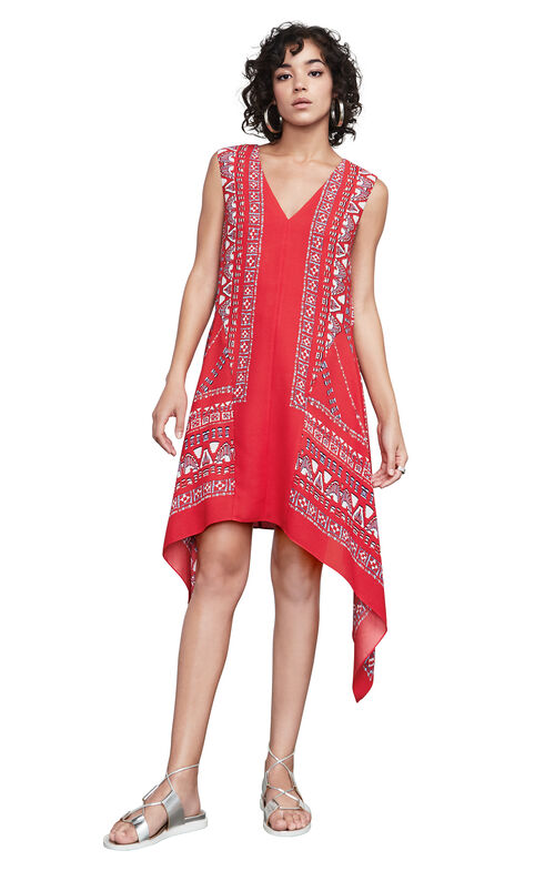 Alena Scarf Print Dress