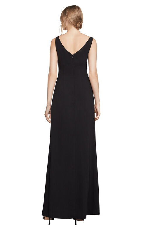 Keana Draped Crepe Gown
