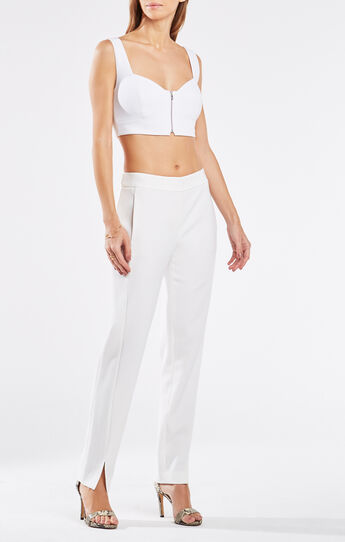 Chellsie Zip-Front Crop Top
