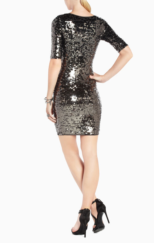 Maura V-Neck Sequined Dress