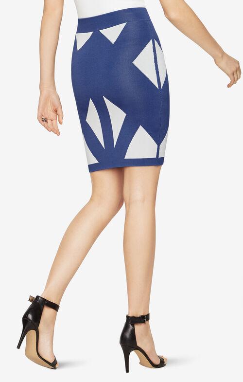 Natalee Geometric Jacquard Skirt