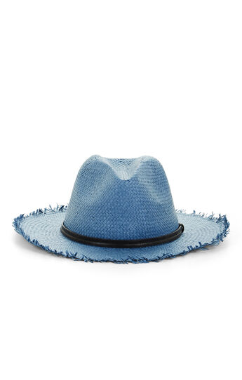 Frayed Straw Panama Hat