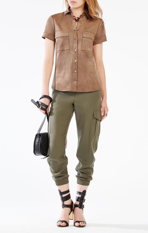 Esther Faux-Suede Shirt