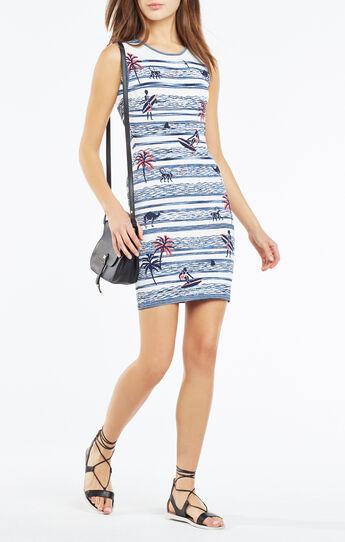 Jose Surf Knit Jacquard Dress