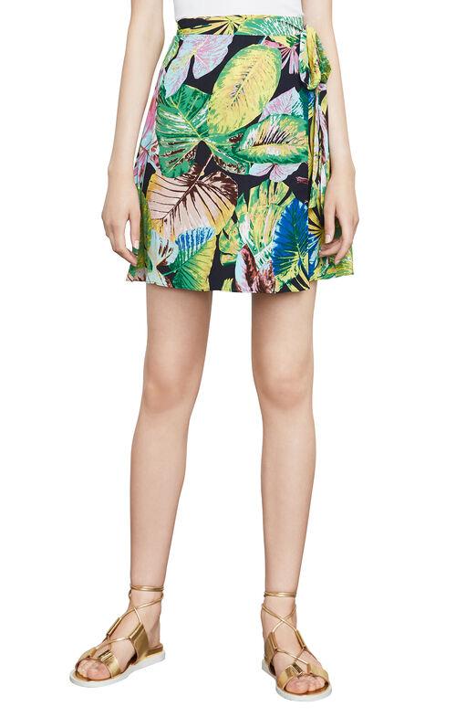 Aviva Floral-Print Skirt