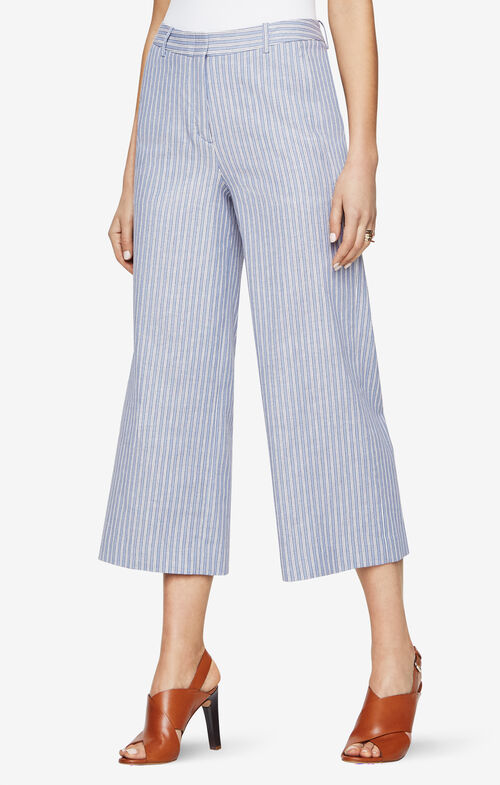 Sutton Striped Wide-Leg Pant