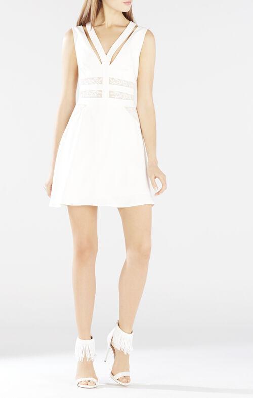 Karleigh Block Embroidered Dress
