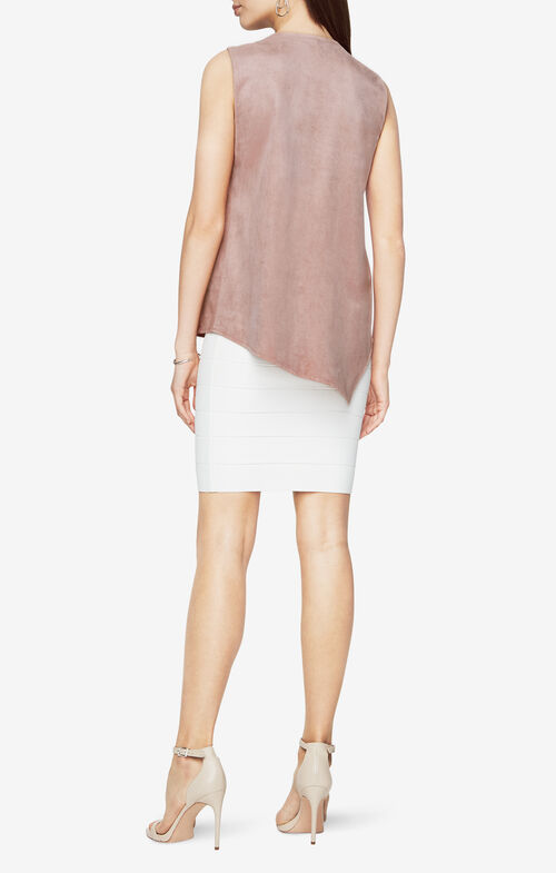 Abby Faux-Suede Top
