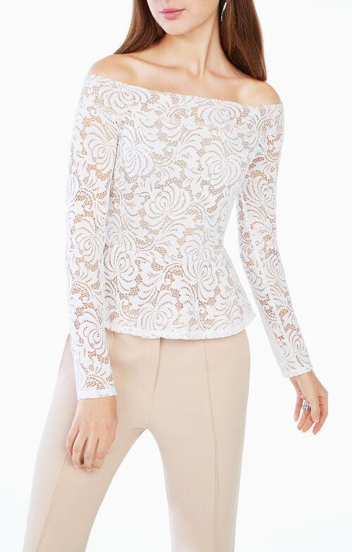 Alea Off-the-Shoulder Lace Top