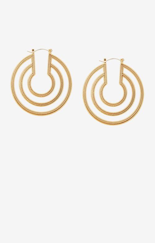 Plate Hoop Earrings