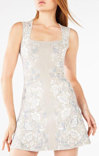 Wilma Floral Knit Jacquard Dress