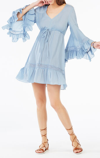 Jackleen Ruffled Peasant Dress