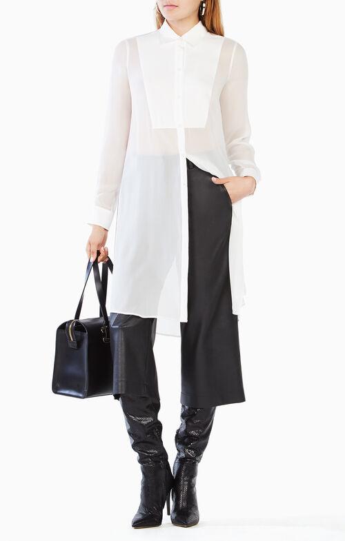 Taylur Long-Sleeve Silk Top