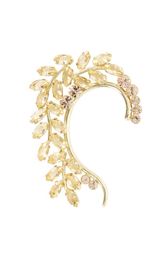 Floral Stone Ear Cuff - Right