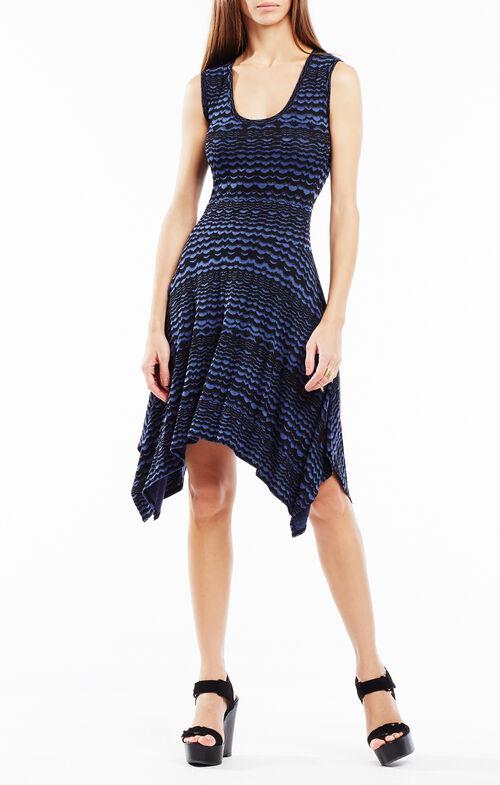 Ane Striped Knit Jacquard Dress