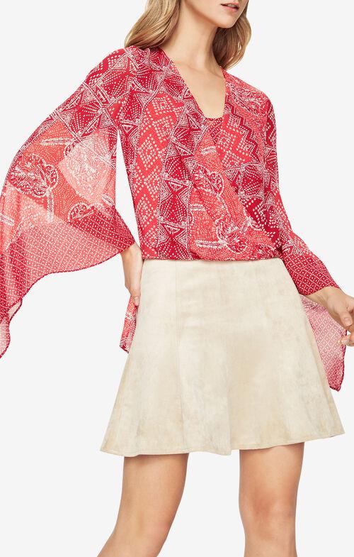 Nickelette Batik-Printed Top