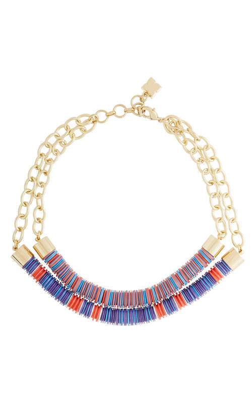 Dual Beaded Chain Tribal Necklace