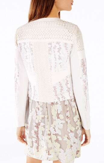 Tarik Floral Print-Blocked Jacket