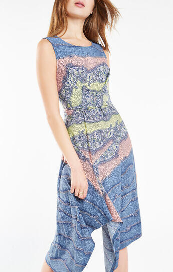 Ezra Floral Print Asymmetrical Dress