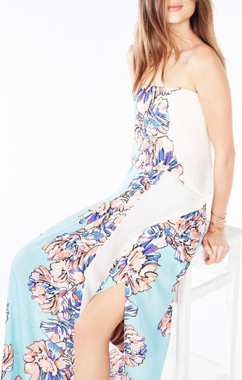 Grace Strapless Floral Print Dress