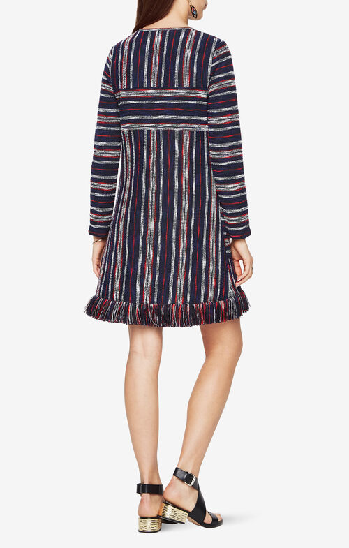 Kathy Striped Boucle Dress