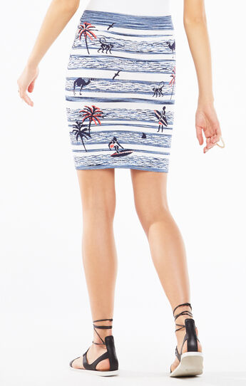 Pavel Surf Knit Jacquard Power Skirt