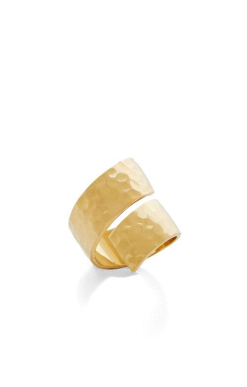 Hammered Swirl Ring