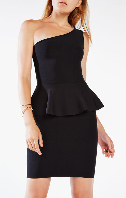 Malia One-Shoulder Peplum Dress