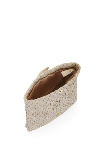 Ariela Woven Leather Clutch