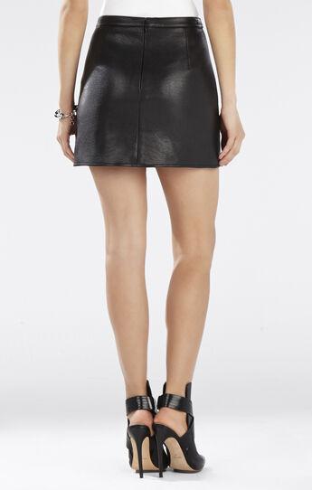 Remi Overlapping Eyelet Miniskirt