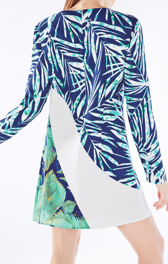 Tilli Tropical Print-Blocked Dress