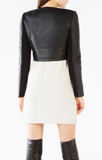 Cohen Cropped Quilted Faux-Leather Jacket