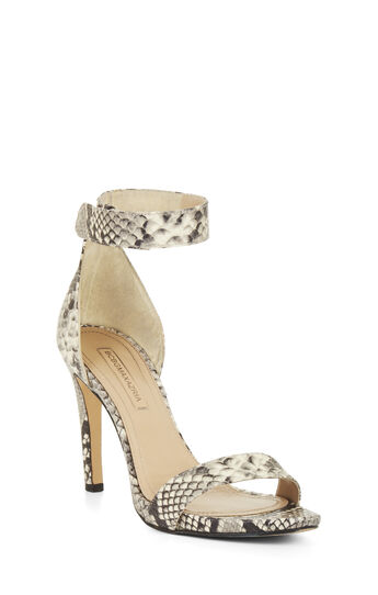 High-Heel Python Sandal