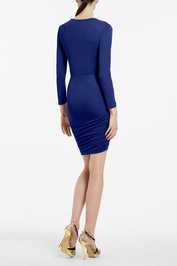 Dalton Zip-Front Jersey Dress