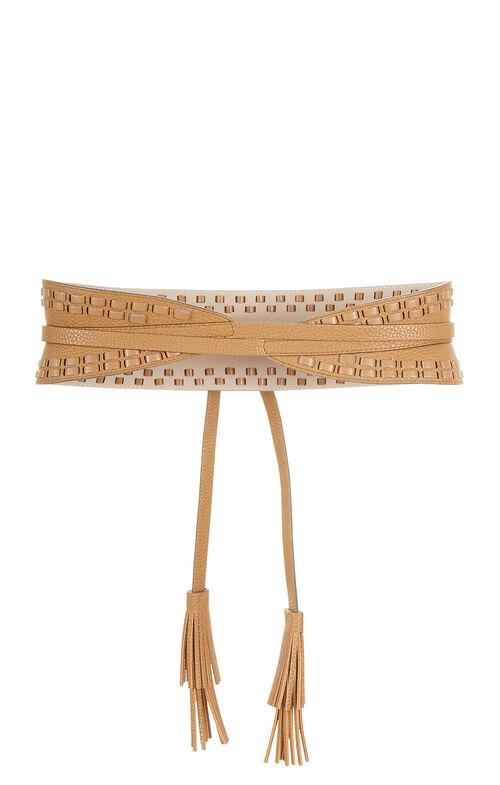 Whipstitch Faux-Leather Waist Belt