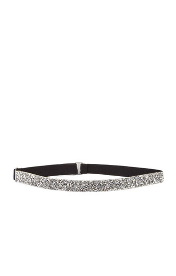 Crystal Rock Elasticized-Back Waist Belt